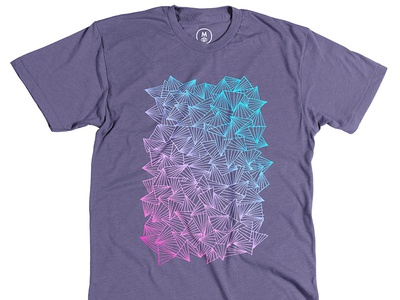 Gerren Lamson: A Gaggle of Triangles triangles shirt tee gerren lamson cotton bureau hand-drawn tee design