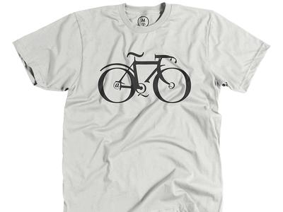 Matt Sutter: Typebike  typography tee bike bicycle cotton bureau type illustration shirt design