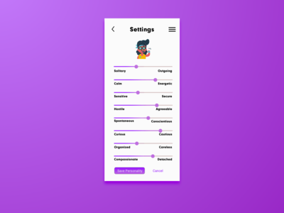 Daily UI Challenge 007 - Settings