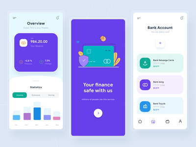 Finance App bars statistics illustration wallet finance ui dashboard app