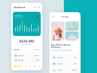 Dashboard App Explorations menu minimalist green ui detail page payment balance photo statistic icon illustrations dashboard app