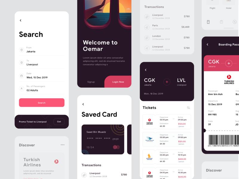 Flight UI Design ui event search credit card illustrations flight plane ticket dashboard app