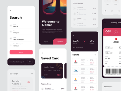 Flight UI Design ui event search credit card illustrations flight plane ticket dashboard app