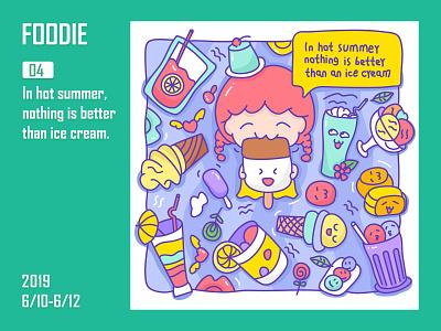 Foodie-Ice cream icecream 饮料 插图 商标 设计 餐饮 可爱
