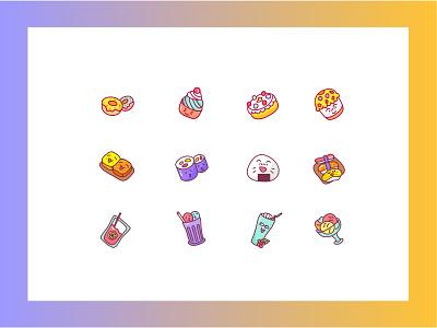 food icon orange juice ice cream 餐饮 eat 可爱 food