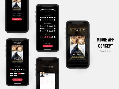Movie App - UI illustration animation mobile ux microinteraction mobile app ui mobile app design design app