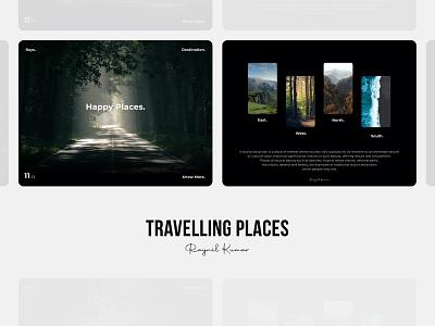 Travelling landing page - web landing page design web design web ui microinteraction design app animation