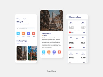 traveling App - UI design ux app ui microinteraction design mobile app