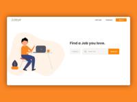 Joteye category job application job listing job board post job searching surfing illustraion illustrator landing page landingpage home search jobs employer employee find job job