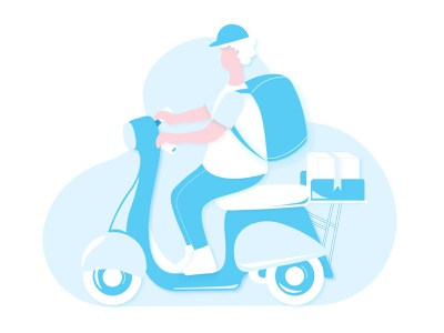 Delivery... on the way!!! delivery delivery boy art ui sketching illustration art illustration design character character illustration adobe illustrator