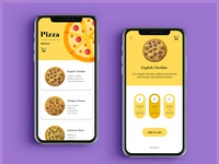 Pizza Delivery App Mockup pt 1