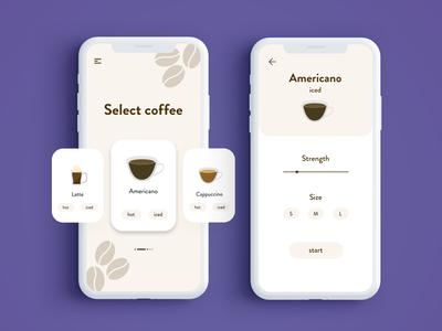 Coffee Machine App UI