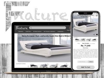Fnature, The Decor E-commerce website.