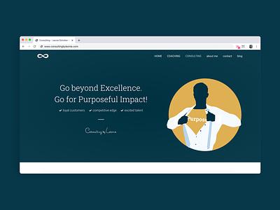 Consulting by Leonie web product design ui web design photography logo animation logo design illustration webdesign