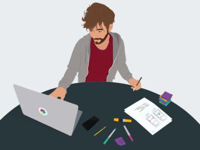 Me at work interface design ux design product design illustration