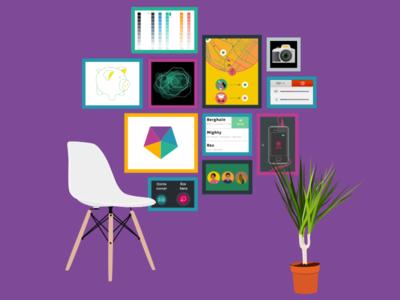 Petersburger Hängung interface design ux design product design illustration