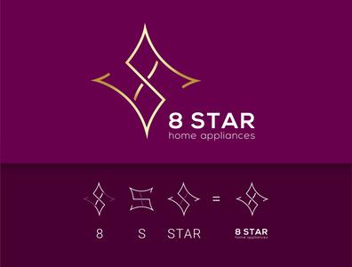 8 star company logo design