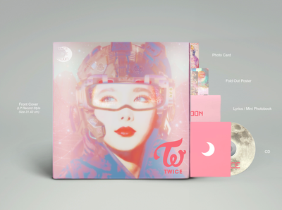 TWICE K-pop Album Artwork and Packaging Design