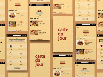 Crate Du Jour App concept UX/UI Design