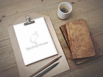The Pour House Logo Design Full Sketch company identity brand enjoy fun mug cup restaurant hotel tea coffee house pour vector business startup minimal logo design branding