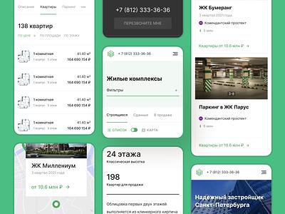 Website for the developer of Saint-Petersburg mobile desktop designs webdesign service brand 36trest bulding website web ux ui recruitment it design cedro animation agency
