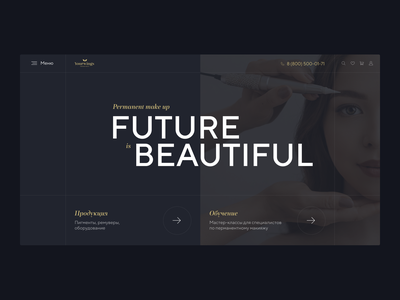 Preloader and home page concept ui animation concept motion brand beauty make up makeup permanent recruitment it animation website web cedro agency ux ui design