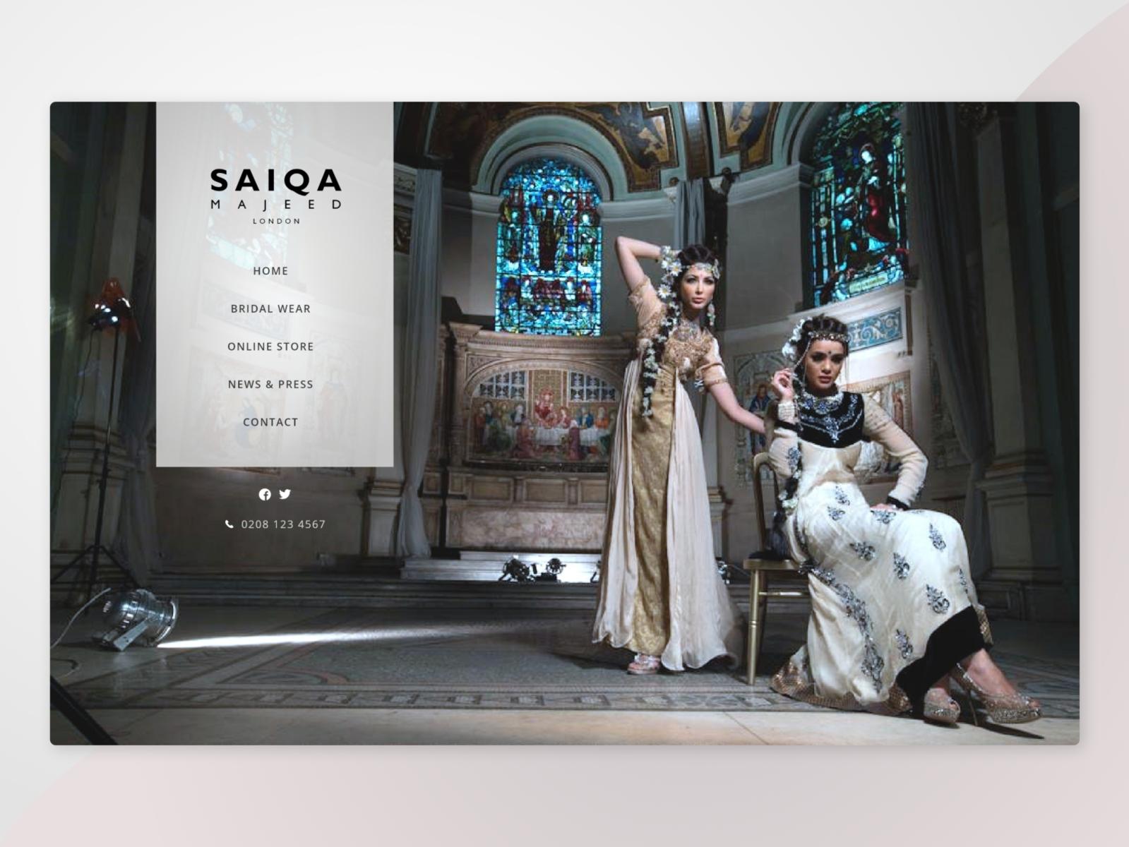 Luxury Designer Fashion May 13 Web Design Gphx Designs By Zahra Siddiquia On Dribbble