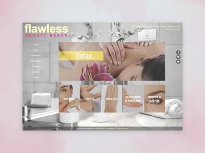 Flawless Beauty Break (Sep '14) | Web Design | GPHX Designs