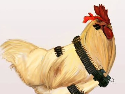 Christmass Chicken Vibes 3 photoshop adobe