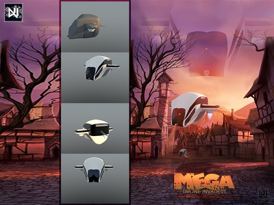 Mega Drone Invaders photoshop adobe c4d