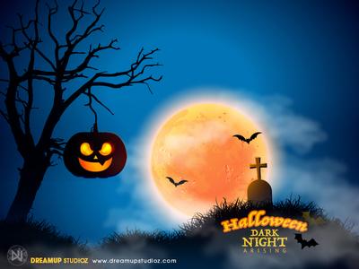 Halloween Dark Night design adobe degital illustration photoshop halloween design