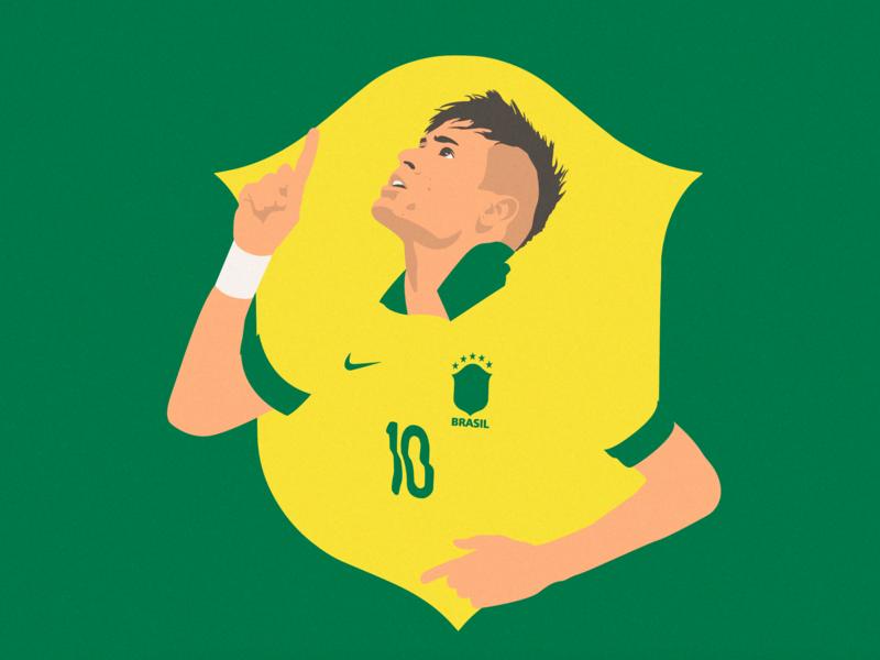 Neymar Jr. copaamerica brazil neymar football soccer vector art illustrations artwork vector illustration vector illustrator illustration art illustration