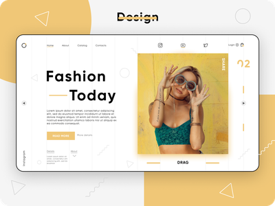 Design fashion online store. figmadesign onlinestore yellow images design awesome design photo abstract yellow fashion figma dribbble awesome