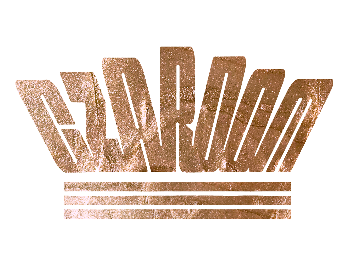 Czardom rose gold crown design logo