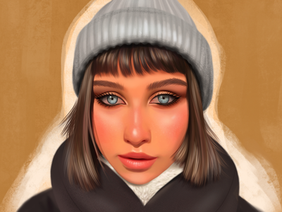 Portrait of a girl from Tomsk girl portrait procreate pencil painting paint ipad pro ipad illustration gallery art gallery drawings draw artwork art
