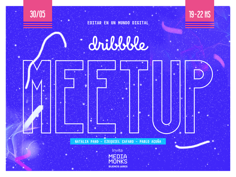 Dribbble Meetup #02 - Buenos Aires (Playoff) digital typography design illustration