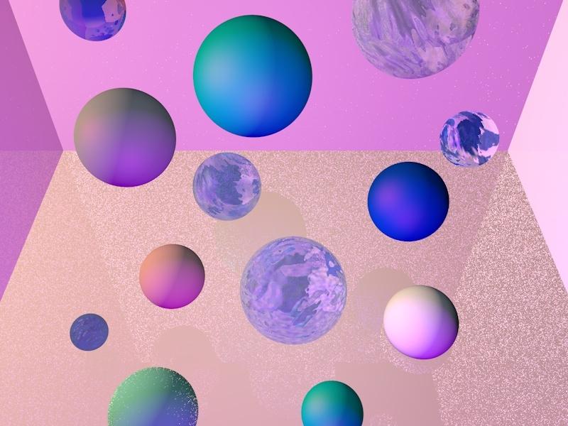 Floating geometric texture 3d digital cinema4d