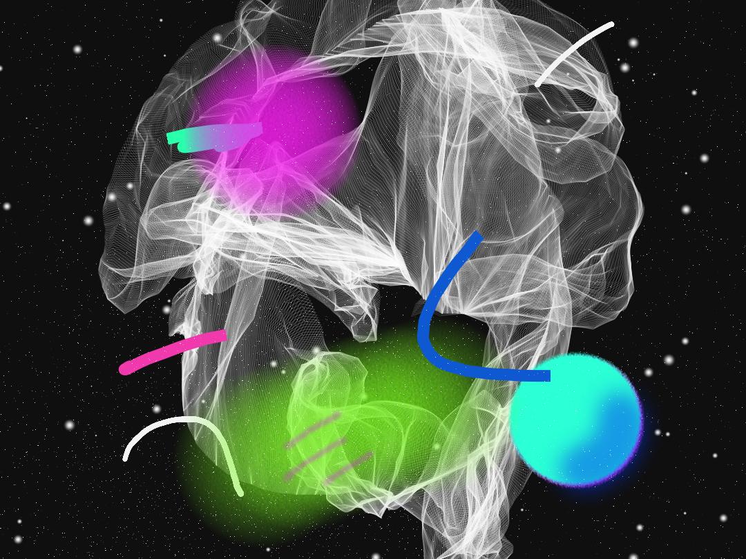 Explosions in the sky #1 wacom organic geometric digital
