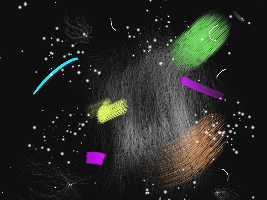 Explosions in the sky #2 wacom organic geometric digital