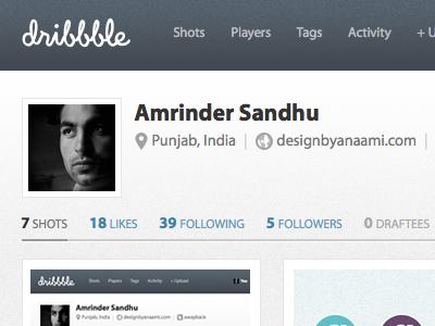 Dribbble in Myriad Pro by Amrinder Sandhu | Dribbble | Dribbble