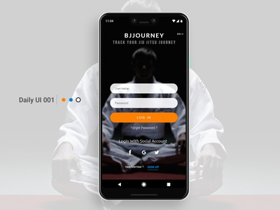 BJJOURNEY SIGN UP / DAILY UI 001