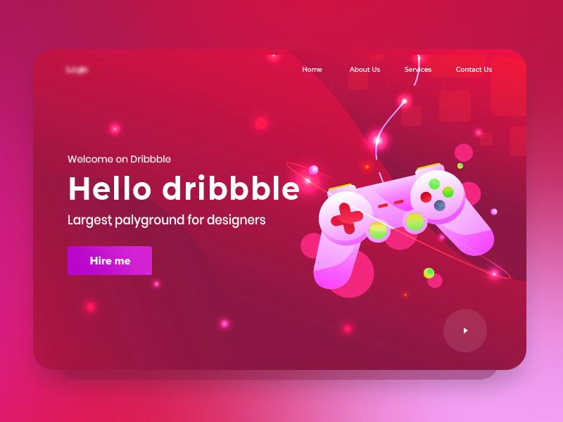 Hey Dribbbler's! minimal web ux vector ui design illustration