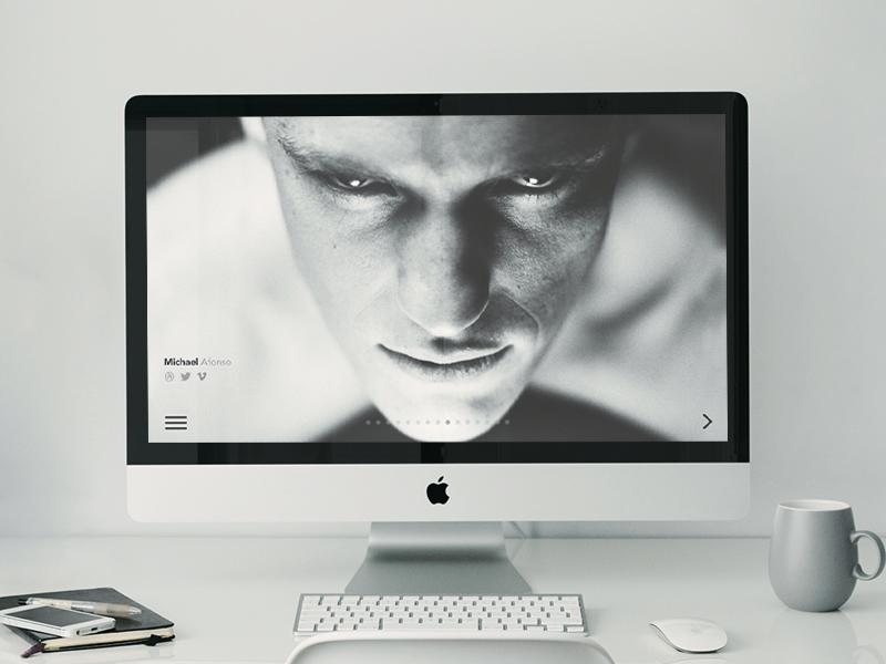 Imac 5k retina office mockup with items