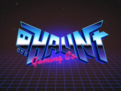 Haunt Gaming Co. synthwave retro logo