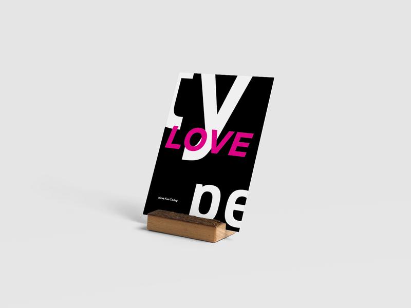 Love Type color type handmade typography design