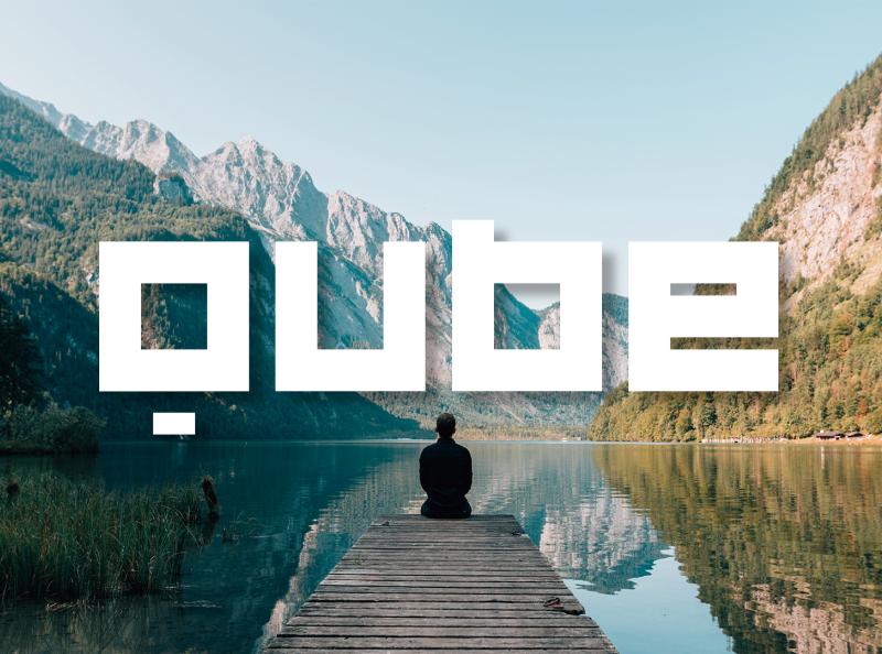 Qube - Font typefaces vector fontself font family font design fonts typeface font lettering type typography design