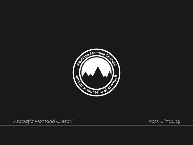 Logo For a Rock Climbing Group logos logotype circular logo nonprofit rock climbing brand identity logodesign logo vector lettering illustration type typography design