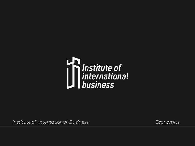 Institute of International Business Logo update logo icon business logodesign brand identity tech logo vector illustration handmade type typography design