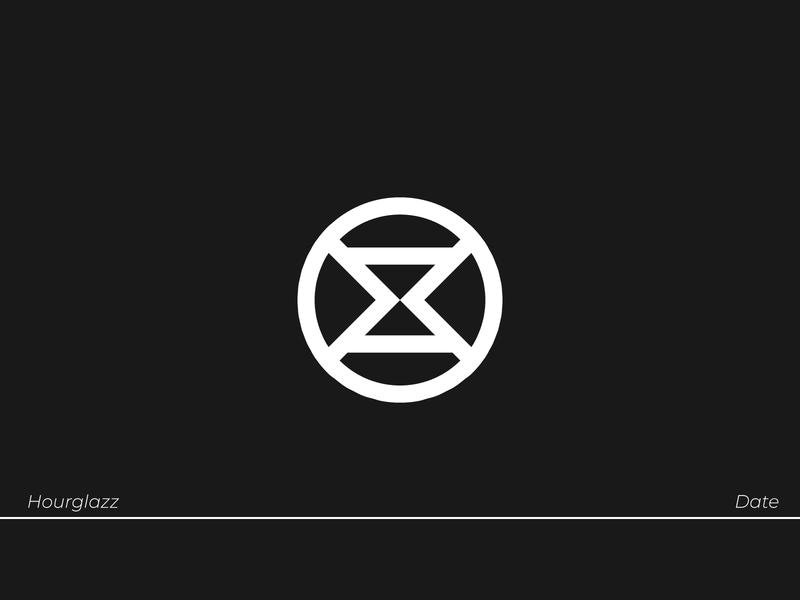 Hourglazz - Dating App dating icon branding logodesign brand identity logo lettering type typography design