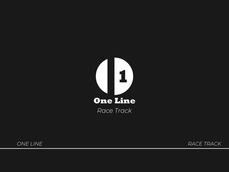 One Line- Race Track logodesign logo vector icon branding brand identity type typography design